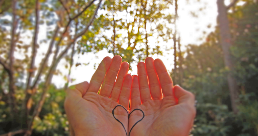 Hand with a Heart for Mental Health